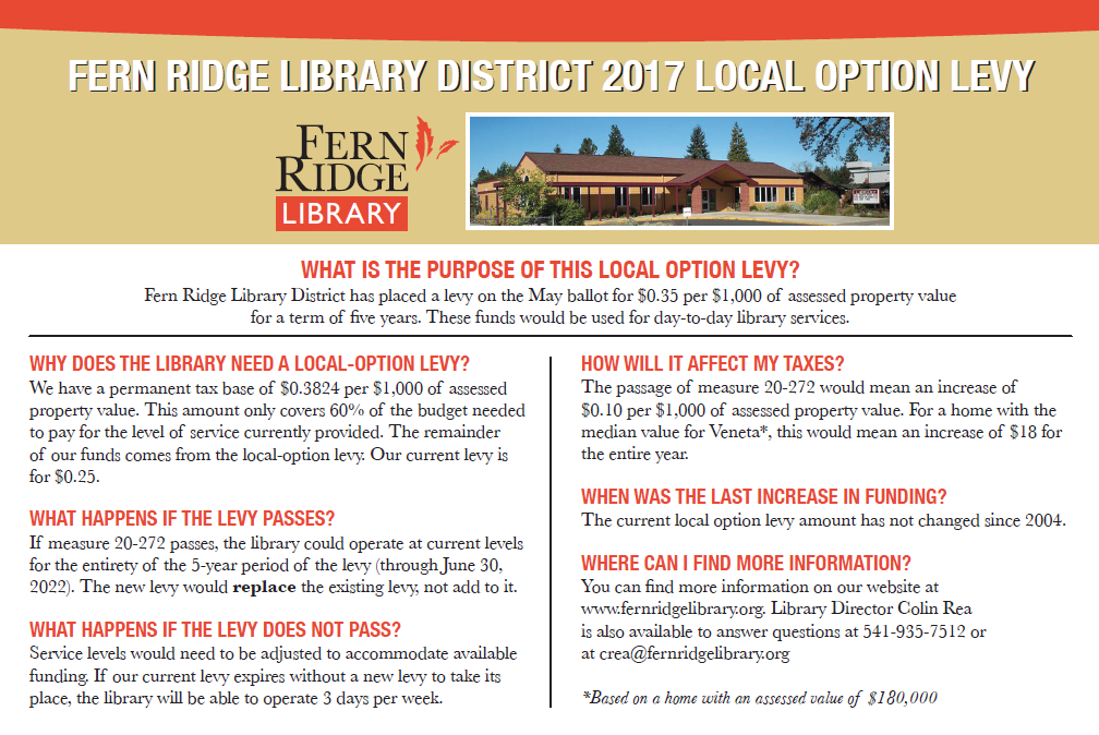 Picture of Local Option Levy Info Card
